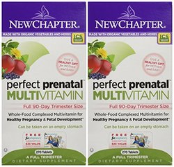 New Chapter Perfect Prenatal Multivitamin Trimester 540 Tablets