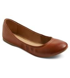 Mossimo Women's Ona Scrunch Ballet Flat - Cognac - Size: 7