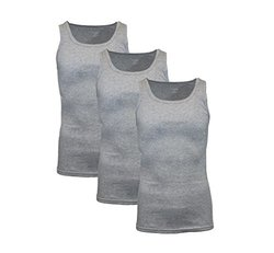 Galaxy By Harvic Men's Classic Ribbed Tank (3-pack): Heather Grey/medium