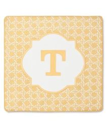 Threshold Monogram Pillow Cover - Yellow - Letter T