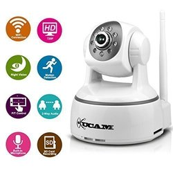 KUCAM 720P HD Plug/Play Wireless Wifi IP Security Camera with Night Vision and Motion Detection