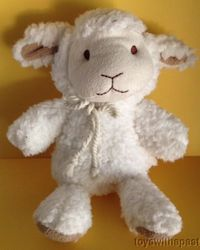 Sweet Sprouts Small Plush Lamb - White