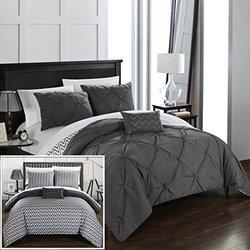 Chic Home Nadette Reversible Comforters: Full-queen/grey