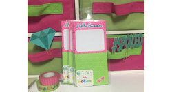 "8"" x 3.5"" ""Hello Summer"" Spot Print Magnetic List Pad - 80 sheets - Pink"