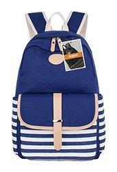 Leaper Thickened Canvas Laptop Bag Shoulder School - Blue1 - Size: Large