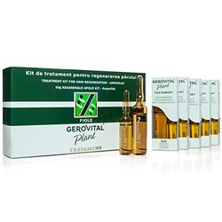 Gerovital Plant Treatment Kit for Hair Regeneration 20 Ampoules X 10ml