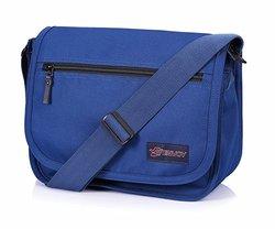 Envoy Vintage Classic Hiking Traveling Shoulder Bag - Blue - Size: Large