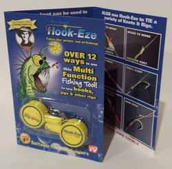 Hook Eze Twin Pack Fishing Safety Tying Device - Yellow