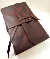 Rogue Journals Leather Writing Journal with Strap closure - Leather Bound