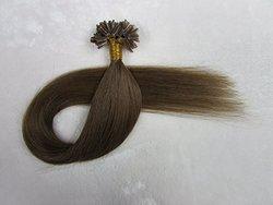 "Fangyuanhair Straight Pre Bonded U Nail Tip Keratin Remy Human Hair - 20"""