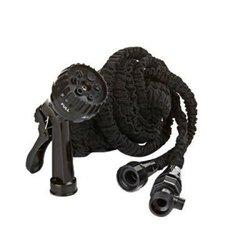 Pocket Hose Auto Expandable Hose - Black - 50 FT with 7 Way Hose Nozzle