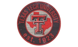 NCAA State With Logo Sign - Texas Tech