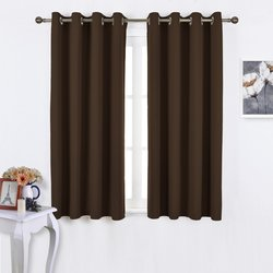 "Nicetown Efficient Blackout Curtains - Toffee Brown - Size: 52"" X 63"""