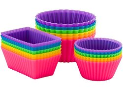 Pantry Elements Silicone Baking Cups / Cupcake Liners / Bento Bundle Lunch Box Dividers / 18-Pack