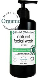 Herbal Choice Mari Facial Wash m/w Organic Dry Skin 200ml/ 6.8oz Pump