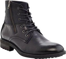 Marco Vitale Men's Side Zipper Textured Boot - Black - Size: 11