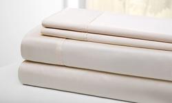 Wexley Home 300TC 100% Cotton Sheet Set - Tan - Size: Queen