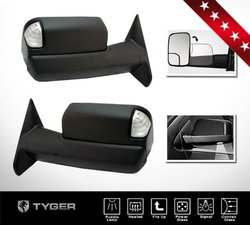 Tyger Pickup Truck Towing Mirrors Power Heated Flip Up Arms - Pair