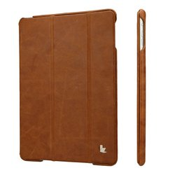 Jisoncase Vintage Genuine Leather Smart Case for iPad Air - Brown