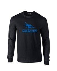 Sdi NCAA Creighton Bluejays Mascot Long Sleeve T-Shirt - Black - Size: L