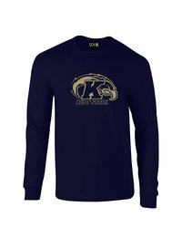 Sdi NCAA Kent State Golden Flashes Mascot T-Shirt - Navy - Size: XX-L