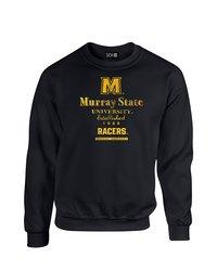NCAA Murray State Racers Stacked Vintage Sweatshirt - Black -Size: X-Large