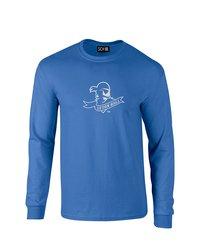Sdi NCAA Seton Hall Pirates Mascot Long Sleeve T-Shirt - Royal - Size: S