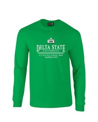 Sdi NCAA Delta State Statesmen Long Sleeve T-Shirt - Green Size: S