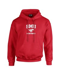 Sdi NCAA Smu Mustangs Mascot Sleeve Hoodie - Red - Size: XX Large