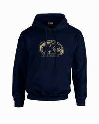 Sdi NCAA Kent State Golden Flashes Sleeve Hoodie - Navy - Size: Small