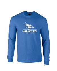 Sdi NCAA Creighton Bluejays Stacked Sleeve T-Shirt - Royal - Size: L