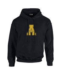 Sdi NCAA Appalachian State Mountaineers Stacked Hoodie - Black - Size: X-L