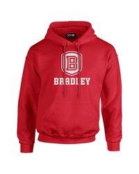 Sdi NCAA Bradley Braves Classic Seal Long Sleeve Hoodie - Red - Size: S