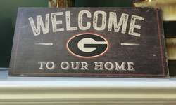 Fan Creations NCAA Distressed Welcome to Our Home Washington State Sign