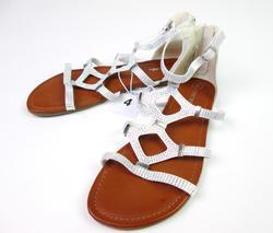 Cherokee Girl's lenna Jeweled Gladiator Sandals - White - Size: 3