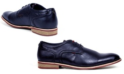Tony's Casual Men's Derby Shoes - Navy - Size: 13