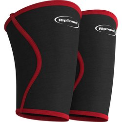 Rip Toned Knee Support Sleeves for Weightlifting Powerlifting - Medium
