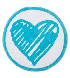 """Heart Bath Rug Lite Blue (25""""x25"""") - Sabrina Soto"""