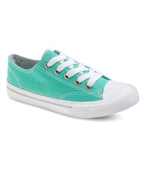 Circo Girls' Lace Up Canvas Mirra Sneakers - Mint Green - Size: 3