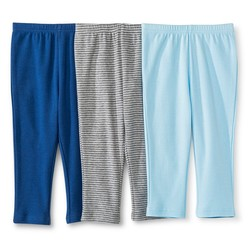 Circo Baby Boys Trouser Pants - 3 Pack - Blue/Navy/Grey - Size: 6-9 M