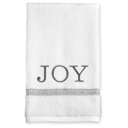 "Threshold Monogram Diamond Seed Joy Hand Towel - White - 16"" x 27"""