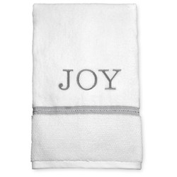 "Threshold 27"" x 52"" Monogram ""Joy"" Bath Towel - Grey/White"