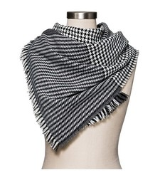Merona Women's Houndstooth Scarf - Black/White