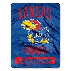 NCAA 46x60 Kansas Jayhawks Throw Blanket- Multicolour
