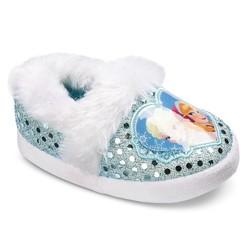 Disney Frozen Toddler Girls' Slide Slippers - Blue/White - Size: L (9/10)