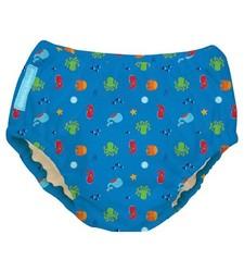 Charlie Banana Baby Reusable Under The Sea Swim Diaper - Blue - Size: M