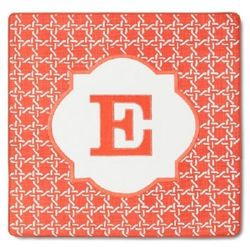 Threshold Pillow Cover Monogram Embroidered Letter E - 18 x 18