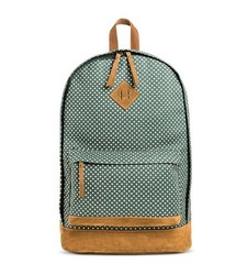 Mossimo Women's Backpack Handbag with Polka Dots - Green - Size: One