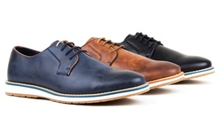 Harrison Men's Casual Derby Shoes - Navy - Size: 9.5