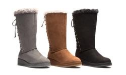Olive Street Women's Cold Weather Comfort Boot - Cognac - Size: 10